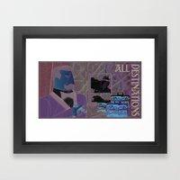 All Destinations - Deco … Framed Art Print