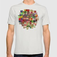 82 Matchbooks Mens Fitted Tee Silver SMALL