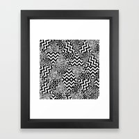 Wild Fashion Monochrome Framed Art Print