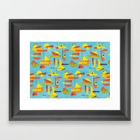Abstract Boats Inspired … Framed Art Print