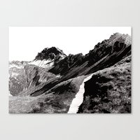 The road below the mountains Canvas Print