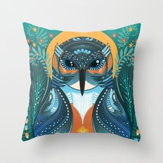 The Nesting Fisher King Throw Pillow