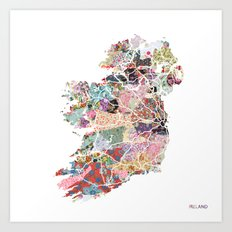 Ireland map Art Print