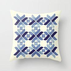 Nordic Blue Throw Pillow