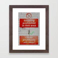 double standards Framed Art Print