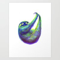 Sloth Hammock Art Print