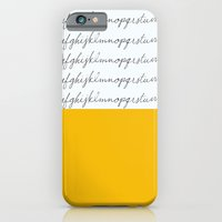 Alphabet-Yellow iPhone 6 Slim Case