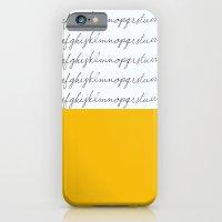 Alphabet-Yellow iPhone 6 Slim Case