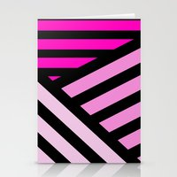 STRIPED {PINK} Stationery Cards