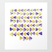 Triangle Relationship (I… Art Print