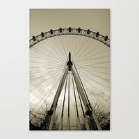 Canvas Print featuring London Eye by Silvia Giacoletto