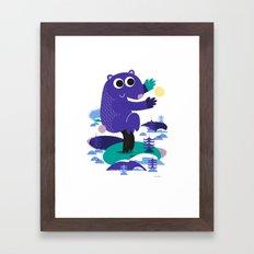 Taiji Panda Framed Art Print