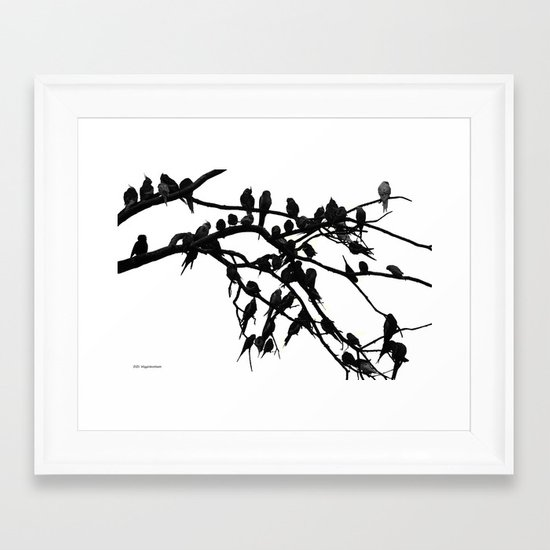 Noisy Silouettes Framed Art Print