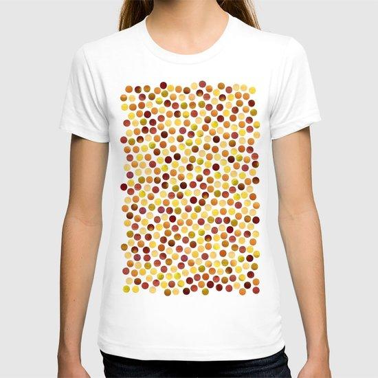 Watercolor Dots_Amber T-shirt