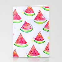 Watermelon Watercolor Pr… Stationery Cards