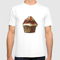 Strawberry Cake Mens Fitted Tee White SMALL