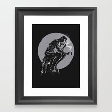 The thinker coffee Framed Art Print