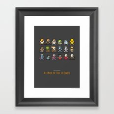 Mega Star Wars: Episode II - Attack of the Clones Framed Art Print
