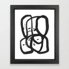 Black & White Abstract 1 Framed Art Print