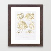Roses Gold Framed Art Print