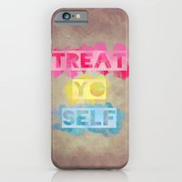 iPhone & iPod Case featuring TREAT.YO.SELF by Galaxy Eyes