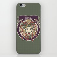 foolish medusa (green) iPhone & iPod Skin