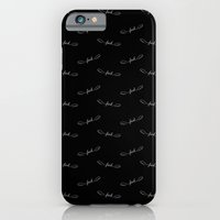 iPhone & iPod Case featuring Flying Fuck - White on Black by Megan Matsuoka