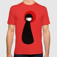 Redd Moon Mens Fitted Tee Red SMALL