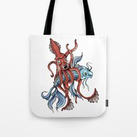 Squid and Fish Tote Bag