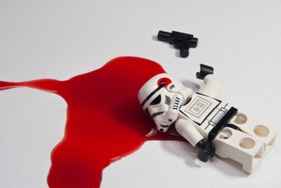 Death of Stormtrooper Steve Art Print