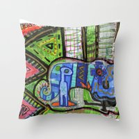 Blue Guy Throw Pillow