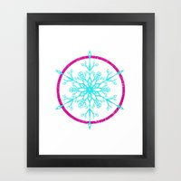 Dream-catching a Snowflake Framed Art Print