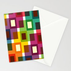 Colorful square pattern Stationery Cards