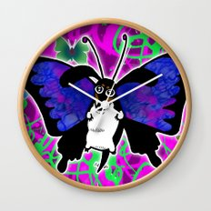 Dachshund Butterfly Wiener Dog by RonkyTonk Wall Clock