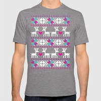 North pole Mens Fitted Tee Tri-Grey SMALL