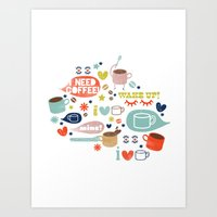Caffeine Addict Art Print
