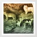 7 Cats Art Print