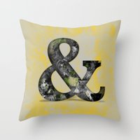 Ampersand Series - Baskerville Typeface Throw Pillow