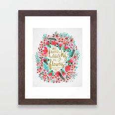 The Earth Laughs In Flow… Framed Art Print