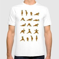 Yoga Bear - Classic Mens Fitted Tee White SMALL