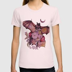 Fruit Bats Womens Fitted Tee Light Pink SMALL