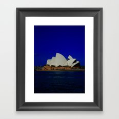 Sydney Opera Blues DPG15… Framed Art Print