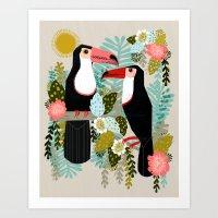 Toucans By Andrea Lauren… Art Print