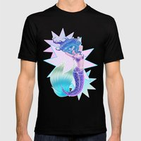 Mermaid POP Mens Fitted Tee Black SMALL
