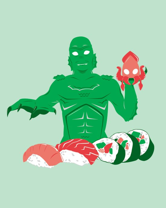 Sushi from the Black Lagoon Art Print