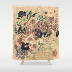 Zentangle Floral mix Shower Curtain