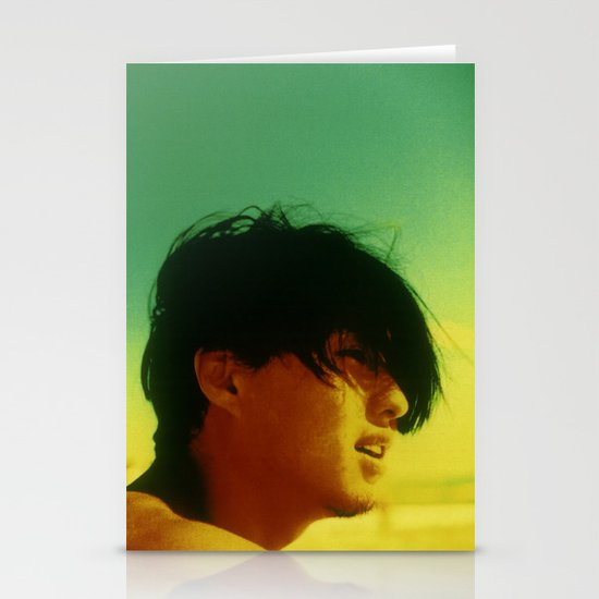 Asian Green and Yellow Stationery Card