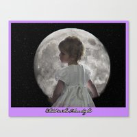 Child In The Moonlight Canvas Print