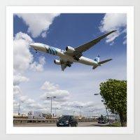 EgyptAir Boeing 777  Lan… Art Print