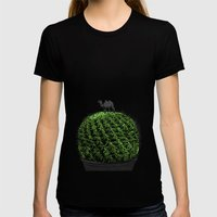 Cactus Womens Fitted Tee Black SMALL